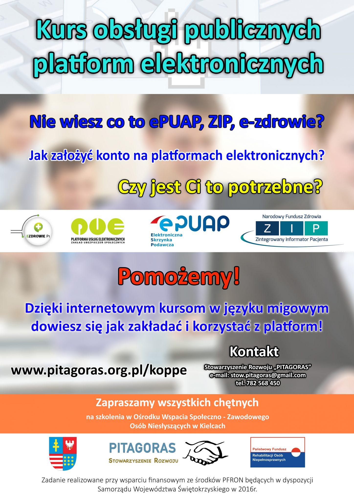 Kurs obsługi publicznych platform elektronicznych